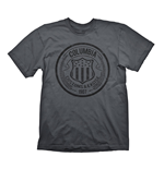 BIOSHOCK Columbia Customs & Excise 1907 Men's T-Shirt, Extra Extra Large, Dark Grey