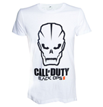 CALL OF DUTY Black Ops III Skull Men's T-Shirt, Small, White