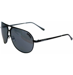 JACK DANIEL'S Large Dark Grey Lens with Black Thick Frame Unisex Sunglasses, One Size, Dark Grey/Black