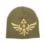 NINTENDO Legend of Zelda Skyward Sword Golden Royal Crest Unisex Woven Beanie, One Size, Green