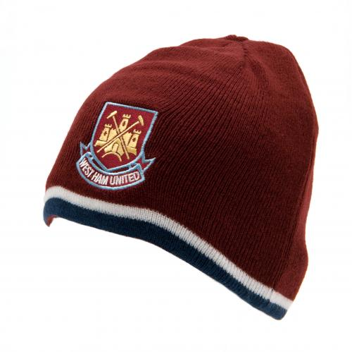 West Ham United F.C. Reversible Knitted Hat
