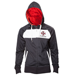 CAPCOM Resident Evil Umbrella Corporation Men's Full Length Zipper Hoodie, Medium, Black/White