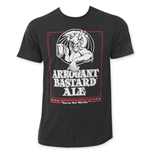 ARROGANT BASTARD Men's Charcoal Beer Logo T-Shirt