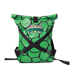 TEENAGE MUTANT NINJA TURTLES (TMNT) Folded Shell with Logo and Cross Strap Detail Unisex Backpack, One Size, Green/Black