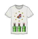 NINTENDO Super Mario Bros. Flying Mario Men's T-Shirt, Large, White