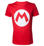 NINTENDO Super Mario Bros. Big Mario Logo Men's T-Shirt, Medium, Red