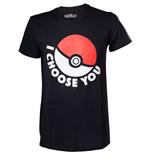POKEMON I Choose You Men's T-Shirt, Small, Black