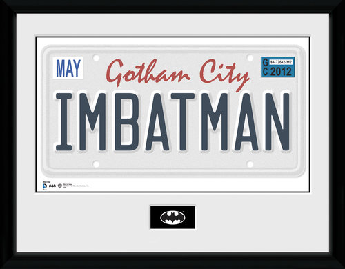 Batman License Plate Framed Collector Print