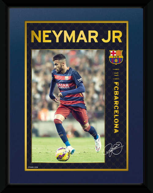 Barcelona Neymar 15/16 Framed Collector Print