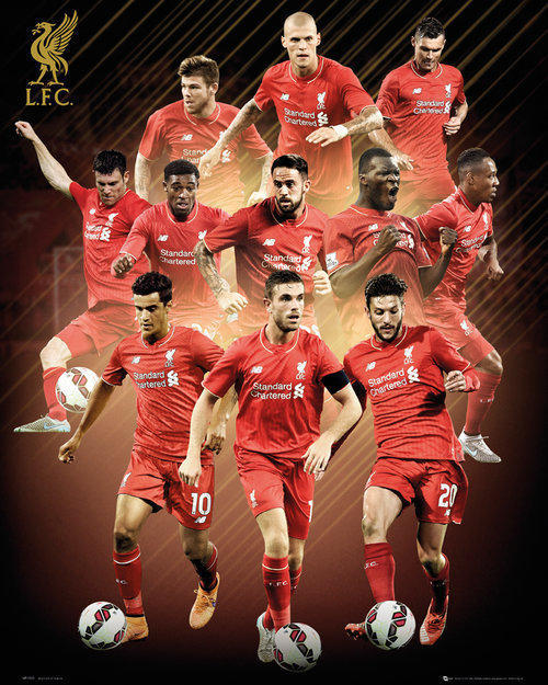 Liverpool Players 15/16 Mini Poster