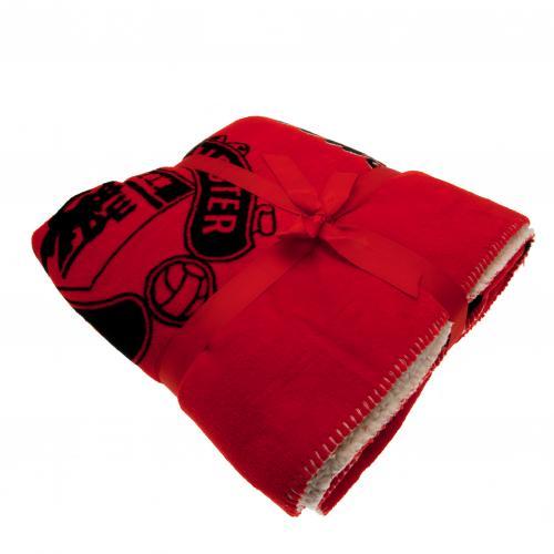 Buy Official Manchester United F C Sherpa Fleece Blanket