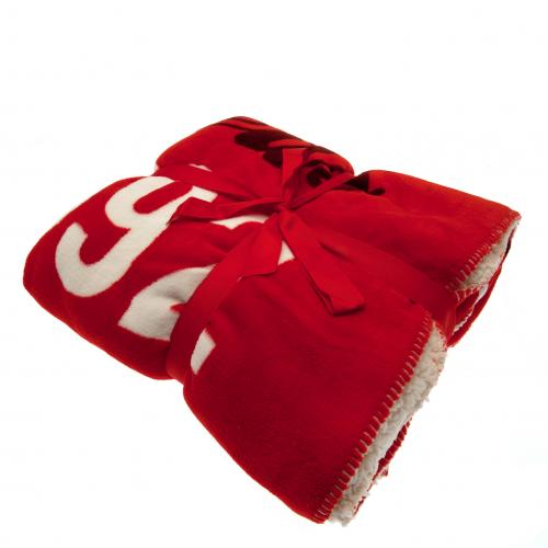 Liverpool F.C. Sherpa Fleece Blanket