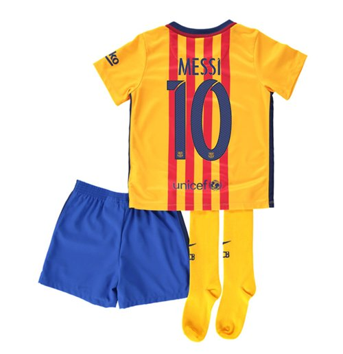 new concept c4a33 89d68 2015-16 Barcelona Away Mini Kit (Messi 10)