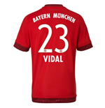 2015-16 Bayern Munich Home Shirt (Vidal 23) - Kids