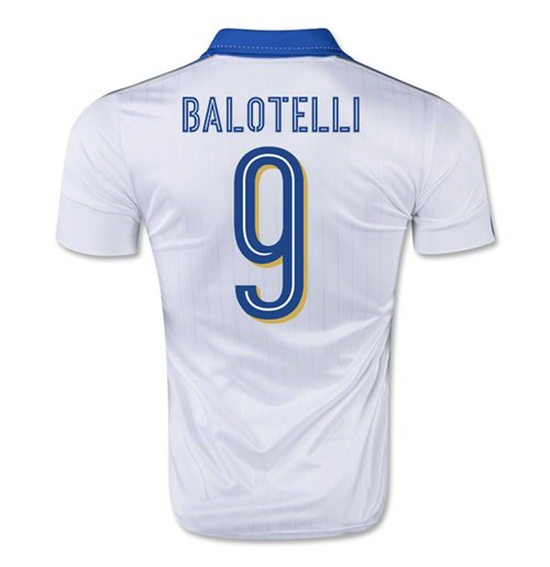 2015-16 Italy Away Shirt (Balotelli 9)