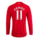 2015-16 Liverpool Home Long Sleeve Shirt (Firmino 11)