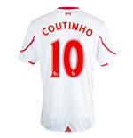 2015-16 Liverpool Away Shirt (Coutinho 10) - Kids