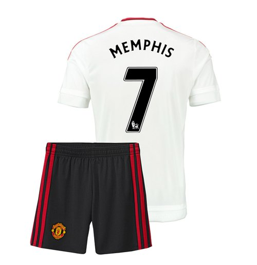 2015-16 Man Utd Away Mini Kit (Memphis 7)