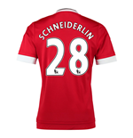 2015-16 Man United Home Shirt (Schneiderlin 28)