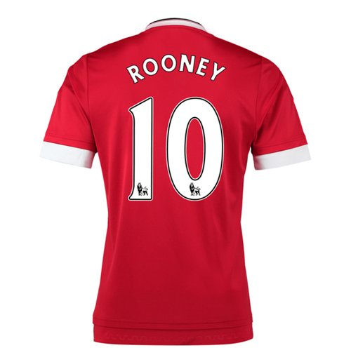 2015-16 Man United Home Shirt (Rooney 10) - Kids