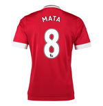 2015-16 Man United Home Shirt (Mata 8) - Kids