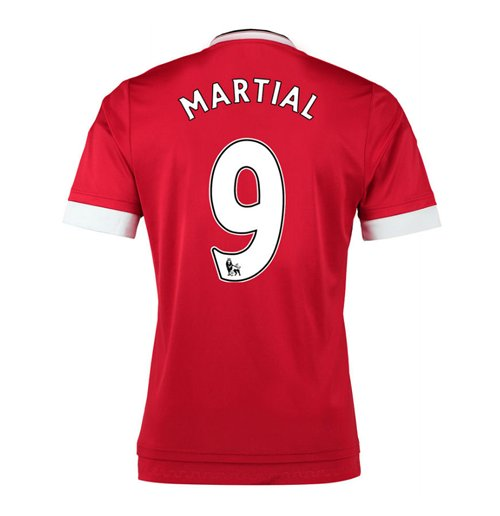 Buy Official 2015-16 Man United Home Shirt (Martial 9)