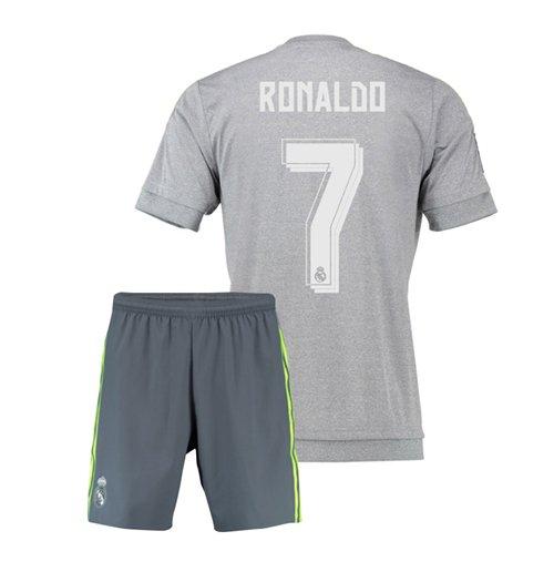 watch d1134 1c68f 2015-16 Real Madrid Away Mini Kit (Ronaldo 7)