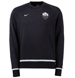 2015-2016 AS Roma Nike AW77 Authentic LS Crew (Black)