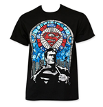 SUPERMAN Stained Glass Tee Shirt