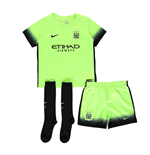 2015-2016 Man City Third Nike Little Boys Mini Kit