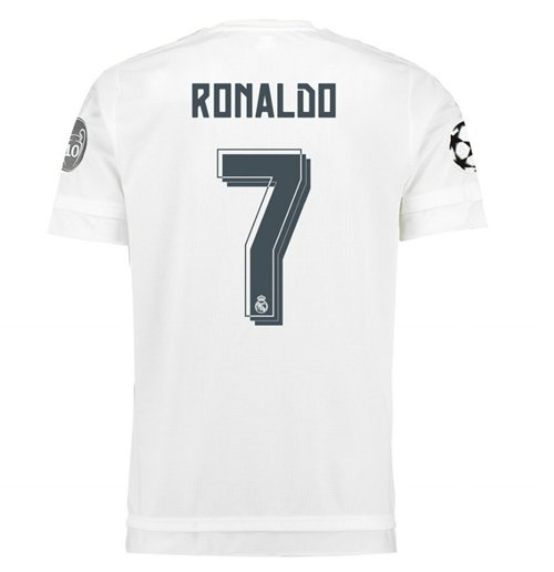 2015-2016 Real Madrid UCL Home Shirt (Ronaldo 7)
