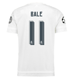 2015-2016 Real Madrid UCL Home Shirt (Bale 11) - Kids
