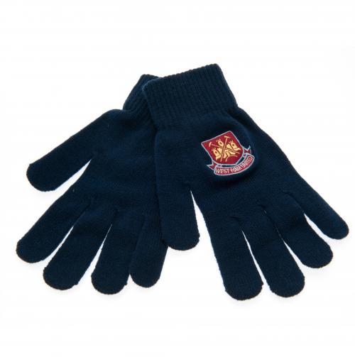 West Ham United F.C Knitted Gloves Adults