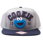 SESAME STREET Embroidered Cookie Monster Since 1966 Unisex Snapback Baseball Cap, One Size, Grey/Blue