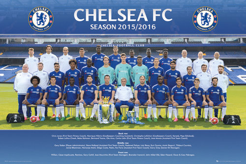 Chelsea Team Photo 15/16 Maxi Poster