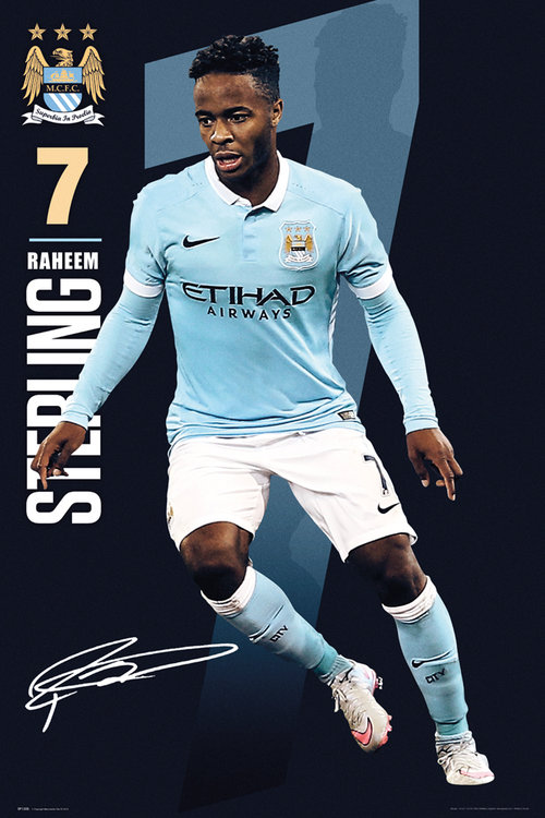 Manchester City Sterling 15/16 Maxi Poster
