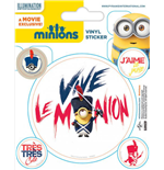 Minions Vinyl Sticker Pack (10) Vive Le Minion