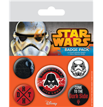 Star Wars Pin Badges 5-Pack Dark Side