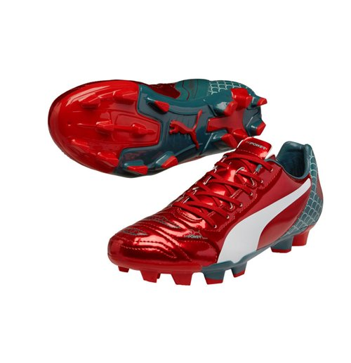 Puma Evopower 4.2 Graphic Firm Ground Football Boots (Red)