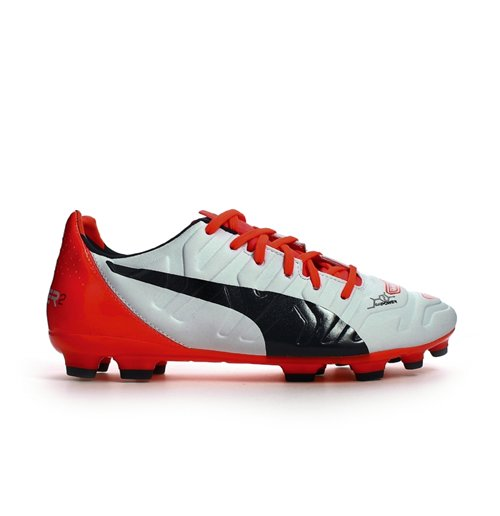 Puma Evopower 2.2 AG Football Boots (White-Orange)
