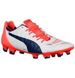 Puma Evopower 1.2 FG Football Boots (White-Orange)