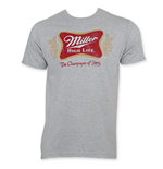 MILLER HIGH LIFE Men's Gray Classic Logo T-Shirt