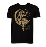 MILLER High Life Men's Black Girl In Moon T-Shirt