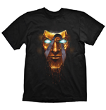 BORDERLANDS Men's Handsome Jack Golden Mask T-Shirt, Extra Extra Large, Black