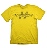 BORDERLANDS Hyperion Logo Men's T-Shirt, Medium, Yellow (GE1707M)