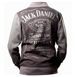 JACK DANIEL'S Classic Old No.7 Brand Logo Unisex Jacket, Large, Black/Grey