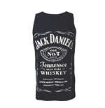 JACK DANIEL'S Adult Male Old No.7 Brand Logo Tank Top, Small, Black/White