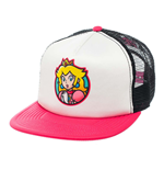 NINTENDO Super Mario Bros. Princess Peach Trucker Snapback Baseball Cap, One Size, Multi-Colour