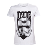 STAR WARS VII The Force Awakens Adult Male Troop Leader Stormtrooper T-Shirt, Medium, White