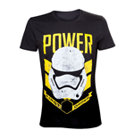 STAR WARS VII The Force Awakens Adult Male Stormtrooper First Order Power T-Shirt, Small, Black